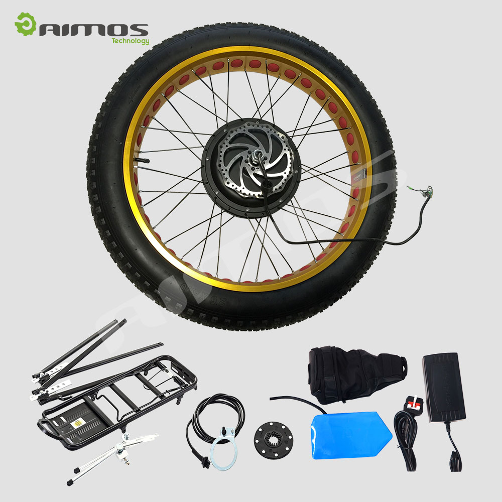 Changzhou Aimos new style fat tire 48v 1000w 15000w electric bike kit