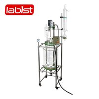 Explosion-proof glass jacketed bubble column reactor