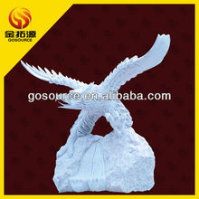 natural stone flying eagle sculpture