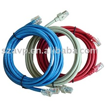 oem patch cord cat5e or cat6(7*0.18 / 5*0.18 / 5*0.12 / 7*0.12) stranded cable. solid cable provided on demand.
