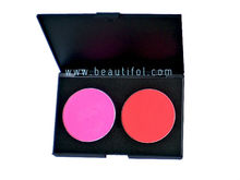 Wholesale 2 color shiny blush, long lasting cosmetic blusher, OEM blushes