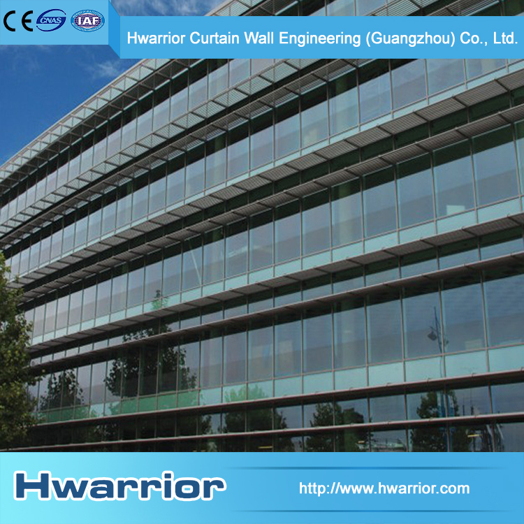 Hwarrior Aluminum frame Curtain Wall Glass Thermal Insulated Curtain Wall
