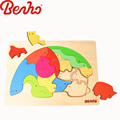 Animal puzzle Wooden Jigsaw Blocks Baby Toys