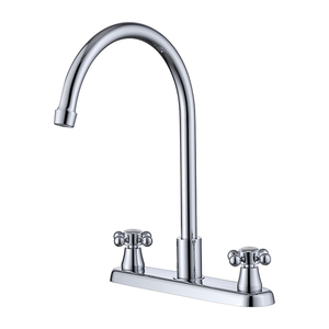 8 inch two cross handles swivel brass kitchen mixer faucet tap