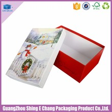Empty Luxury Customized Rectangle Paper Gift box with santa claus girl dress costume