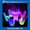 led light round bar table glass top wedding recepetion table