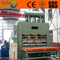 Particle board Melamine lamination press line/YX1200T-8X4 feet furniture panels making machine