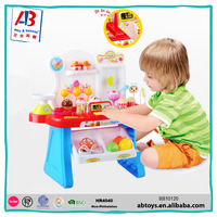 Best selling education toys grocery shops cash register with scanner and credit card