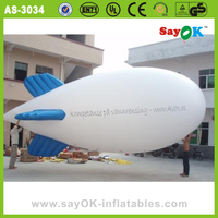 Advertising inflatable blimp shape balloon helium airship