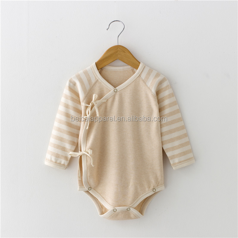 Wholesale organic infant baby bodysuit baby pajamas romper