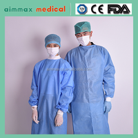 White/blue/green polypropylene surgical cap and gown