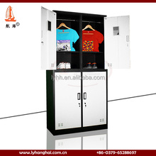 Bedroom modern furniture design four door children clothes wardrobe,metal wardrobe for kids