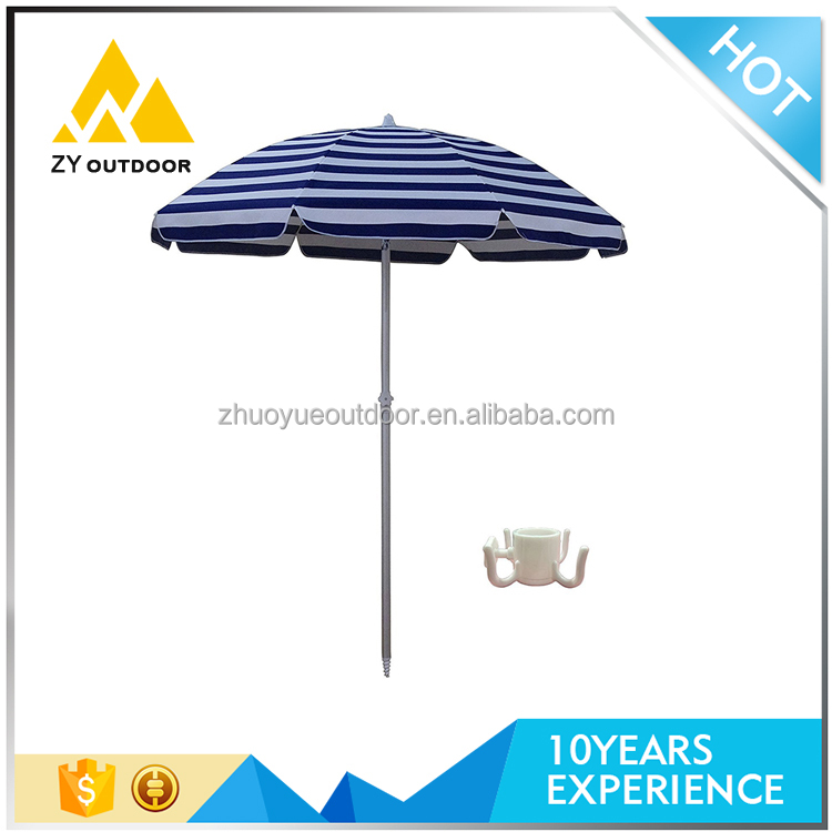 Cheap price fashionable standard size advertising beach umbrella support