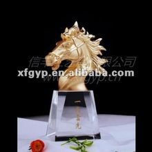 horse head crystal base metal award trophy cup