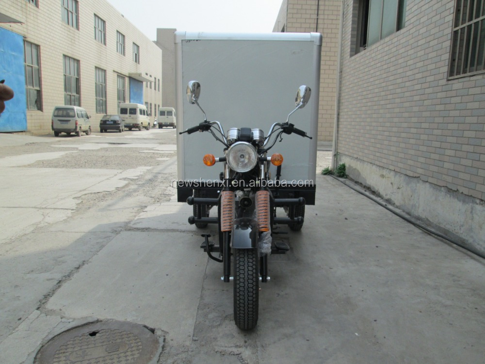 Big Power Gasoline Cloesd Box 3 Wheel Cargo Tricycle Trike Optional Color For Sale