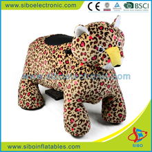 GM5909 shopping mall electric motorized plush riding animals for children