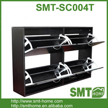 4 door high quality wood shoe rack cabinet
