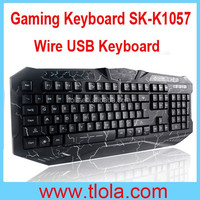 Professional Multimedia USB Wire Gaming Keyboard for PC Laptops SK-K1057