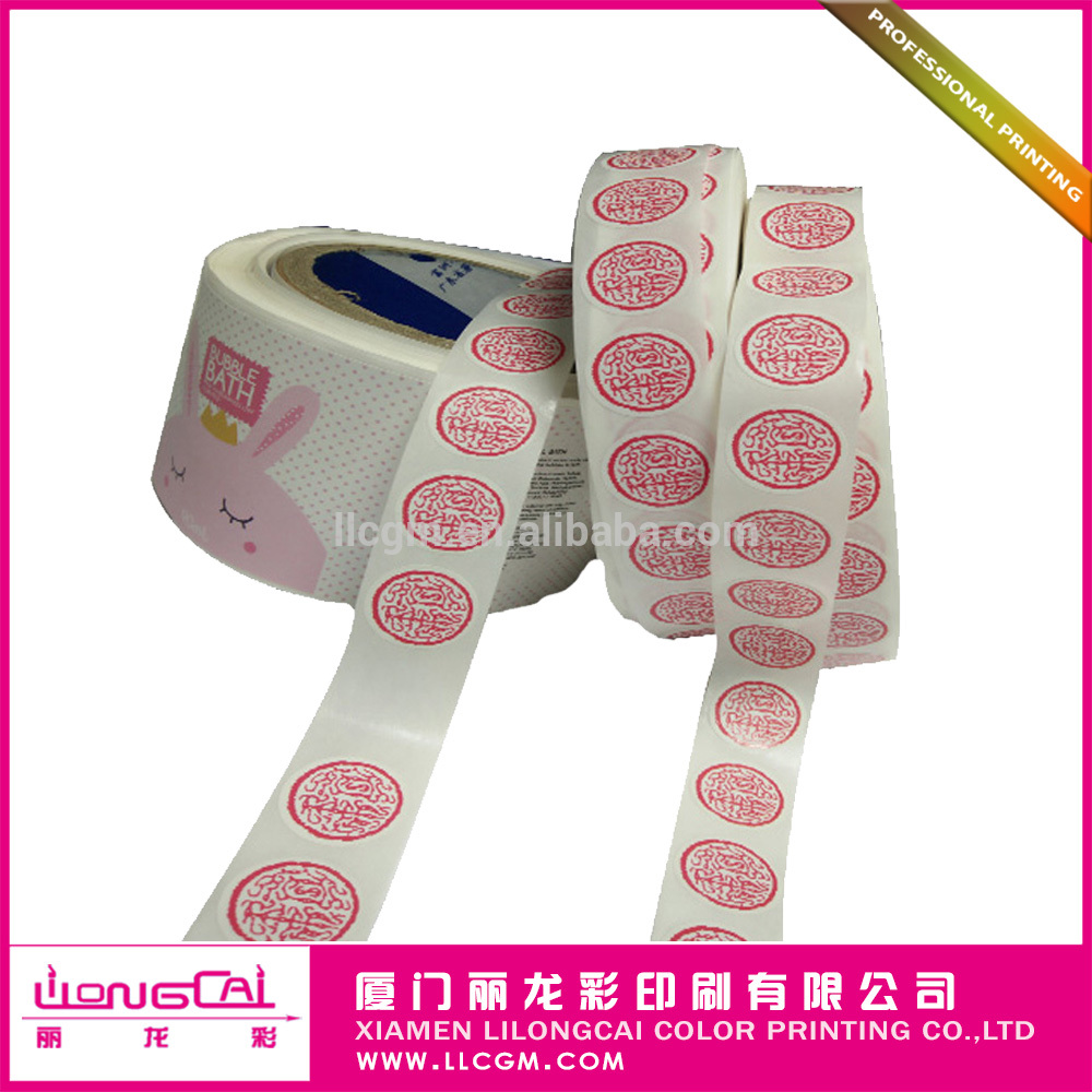 Custom printing eco-friendly product self adhesive fabric sticker label
