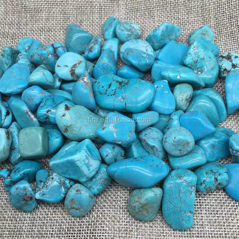 Wholesale Polished Turquoise Rough Stone Gemstone Tumbled Stone