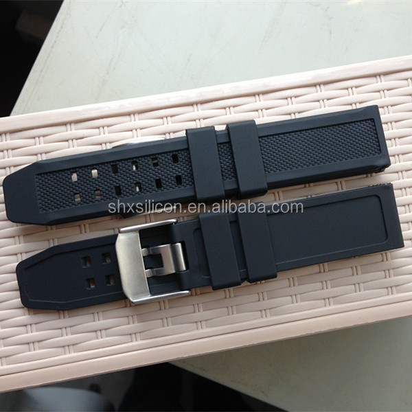 high quality two piece 23mm diver rubber watch band