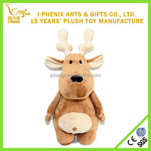 Cute reindeer soft stuffed plush toys Christmas toys Factory from Chinese