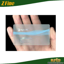 Clear Transparent Plastic Card Transparent Cards