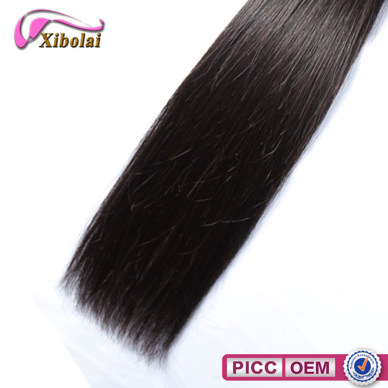 XBL grade 6A straight virgin hair extension, Brazilian human hair weave for sale