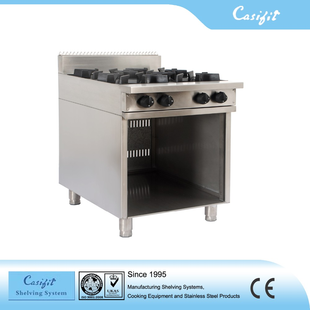 Commercial Restaurant Stainless big burner gas stove/cooking gas stove price with under cabinet