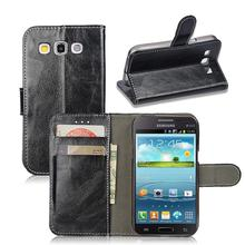 "GT-i8552 Case Retro Leather Case For Samsung Galaxy Win I8550 Duos I8552 8552 Gt-i8552 I8558 4.7"" Flip Cover Magnetic Phone Bags"