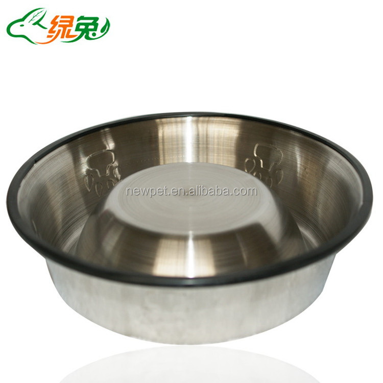 Top quality newly design non slip stainless steel bowl fancy bowl for dog