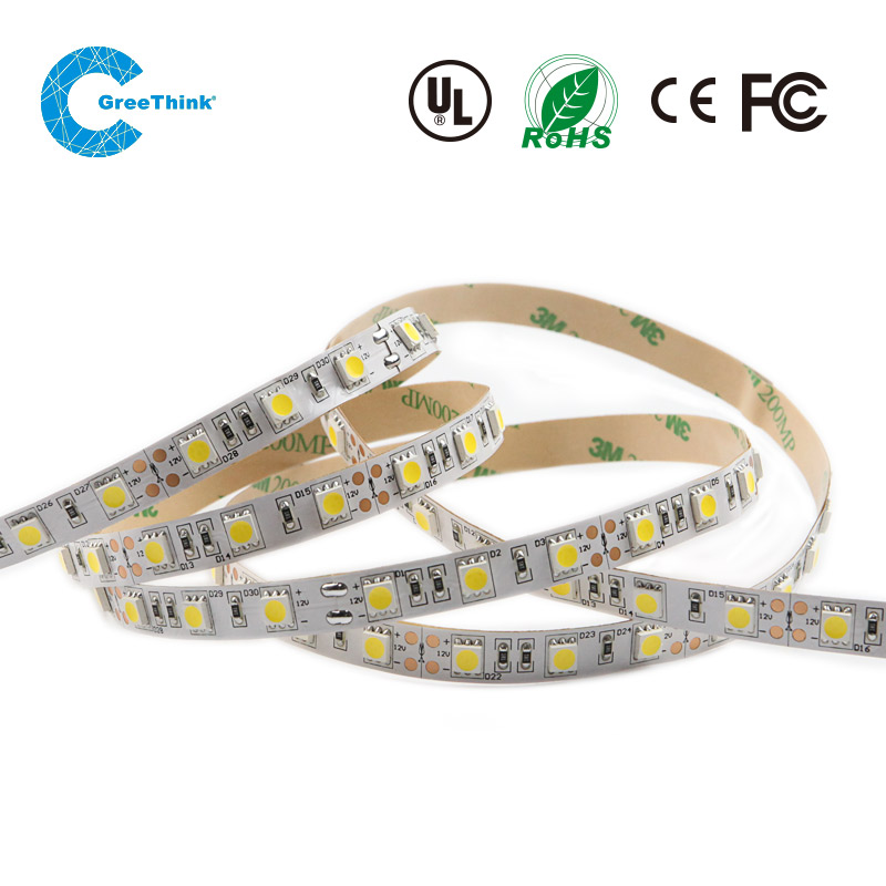 High brightness flexibel SMD5050 14.4W 60leds warm white light led strip