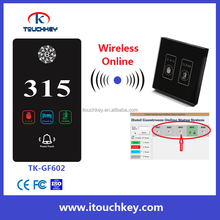 Hotel Wireless Online room number electronic door sign doorplate TK-GF602