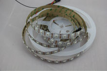 New WS2801 DC5V APA102 led pixel srip,non-waterproof,60pcs APA102-5050 LED/M with 60pixels;WHITE PCB,wire;with DATA and CLOCK