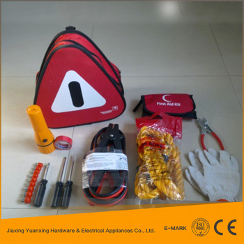 wholesale china market bag Emergency tool kit and car jump starter tool
