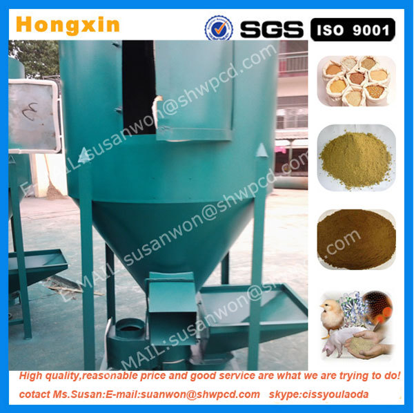 Industrial vertical animal feedstuff crushing and mixing machine