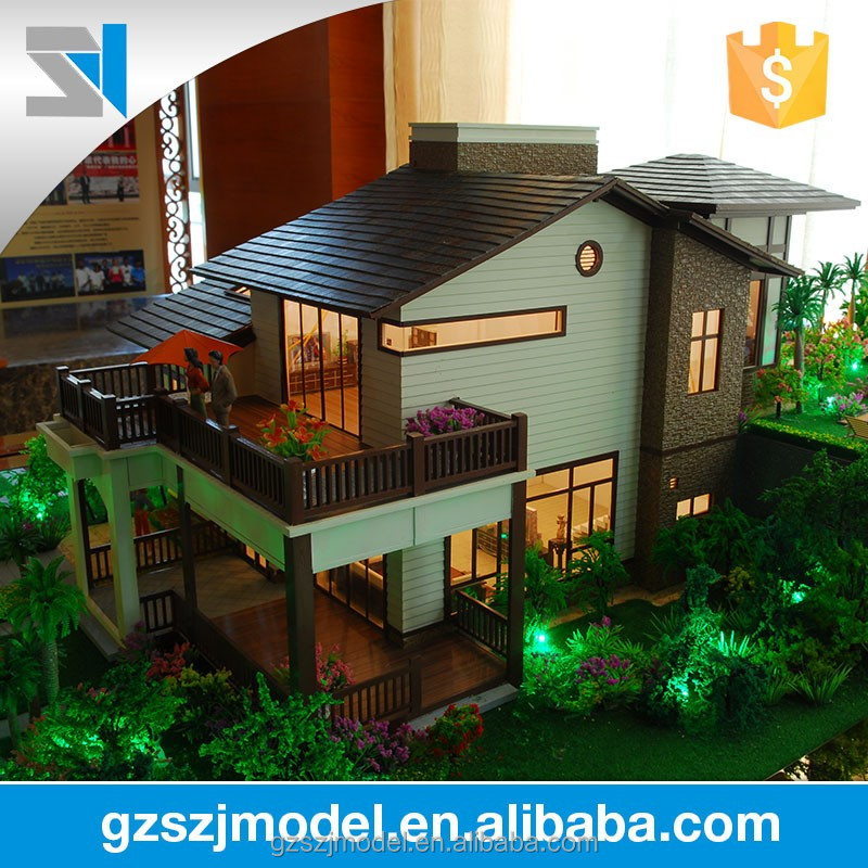 Apartment And Villas House Plan Model With Led Lights