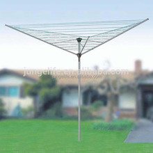 3-arms galvanized steel rotary clothes air, rotary clothes washing line