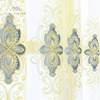 Custom design luxury polyester curtain embroidery chemical lace fabric