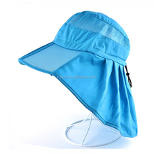 Wholesale Promotional Outdoor Fishing Cap Women Sun Protection Flat Hat With Neck Cover