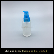 High-end elegant frosted lotion glass bottle for liquid measuring container