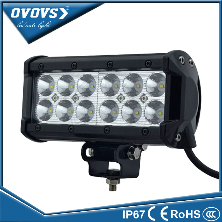 OVOVS Off road spot beam auto dual row 36w led bar light rally car off road lights