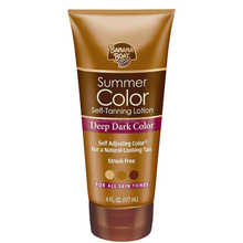 Deep Dark Color Self Tanning Lotion