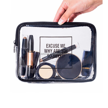 Fashion cheap eco-friendly promotional tpu waterproof cosmetic bag makeup bag transparent