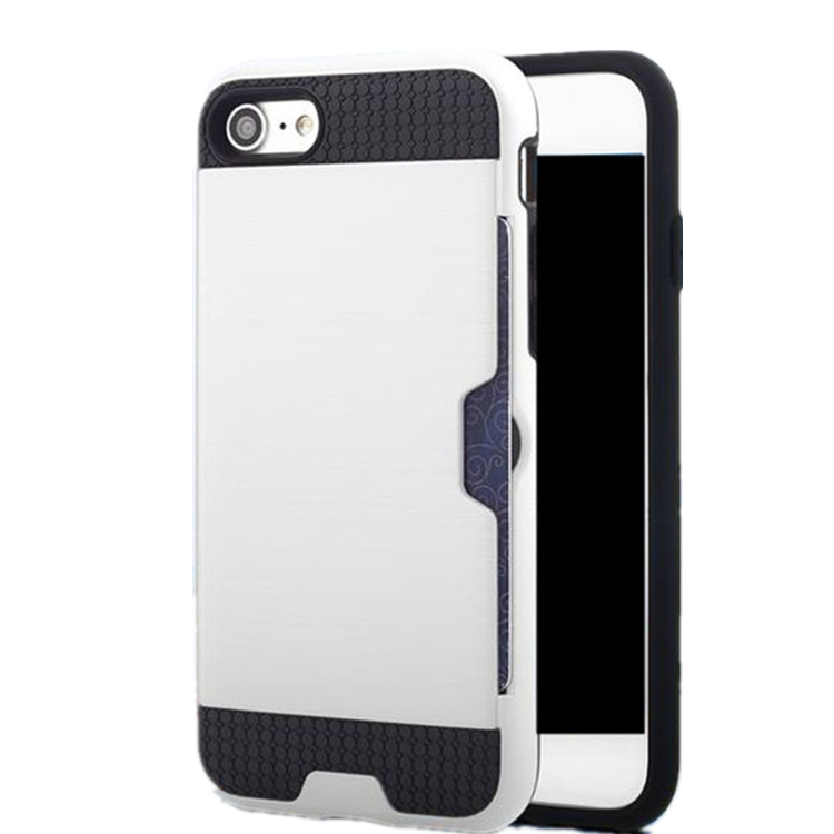 Wholesale Cheap Price Cell Phone Waterproof Card Holder Case for iPhone 5S , Luxury Shockproof Brushed TPU Case for iPhone 5S