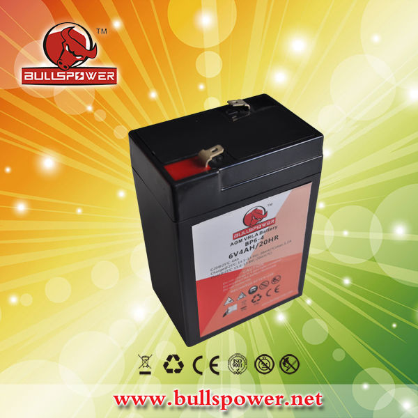 2015 topselling battery 6v 4r25 battery lead acid battery 6v 4.0ah BP6-4