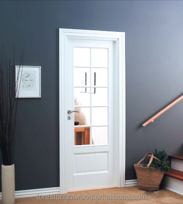 White primed 10 lite composite interior wooden glass for Purchase french doors