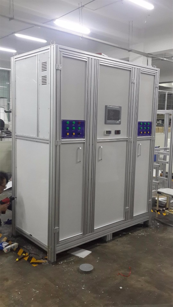 salt water chlorination system for waste water treatment plant