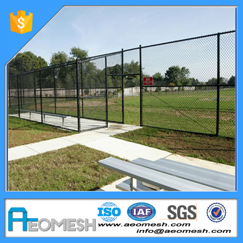 Hot Sale Iron Electro Galvanized Chain Link Fence For Construction Site