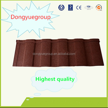 DONGYUE CHINESE CHEAP PRICE STONE COATED METAL ROOF TILE